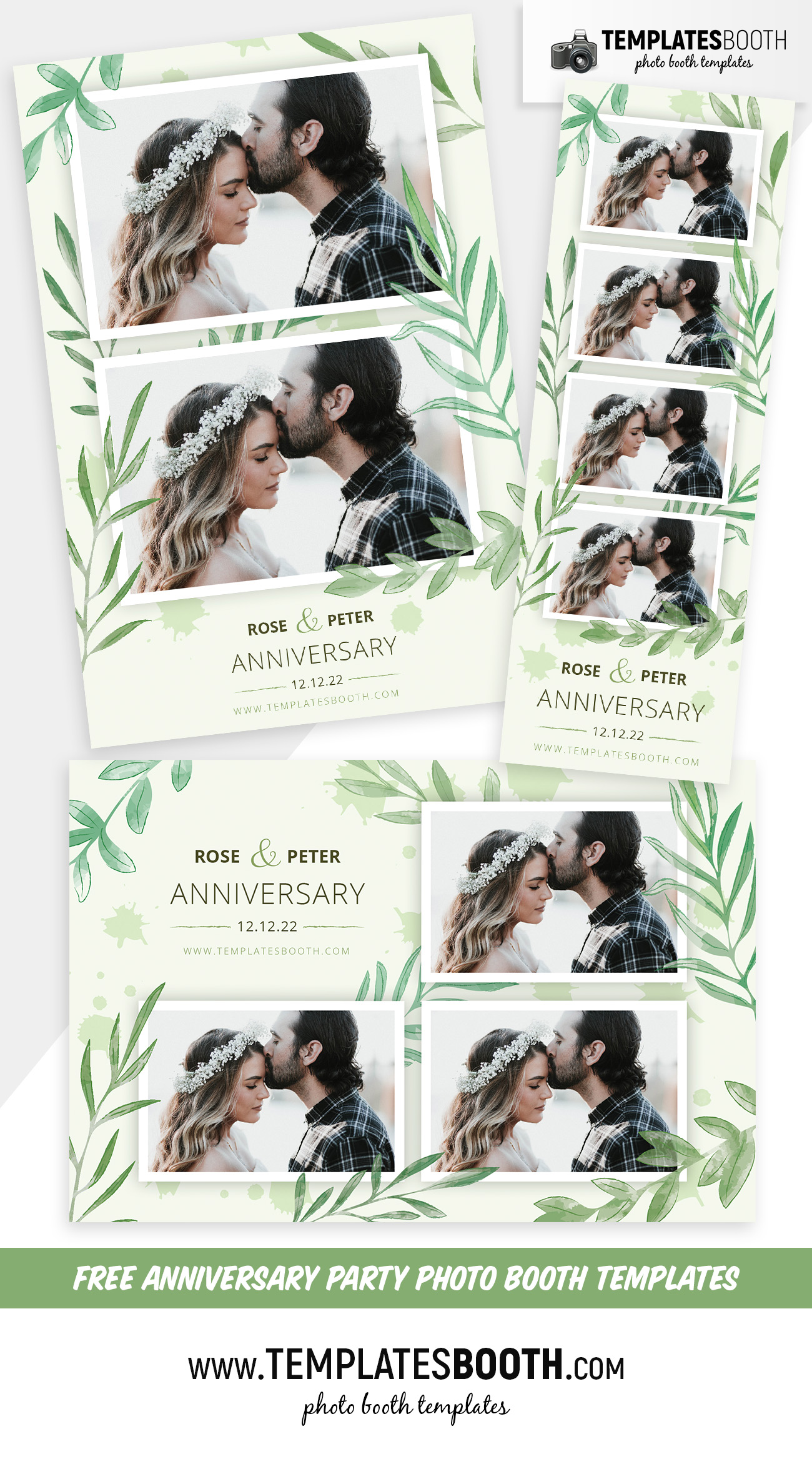 Free Anniversary Party Photo Booth Templates