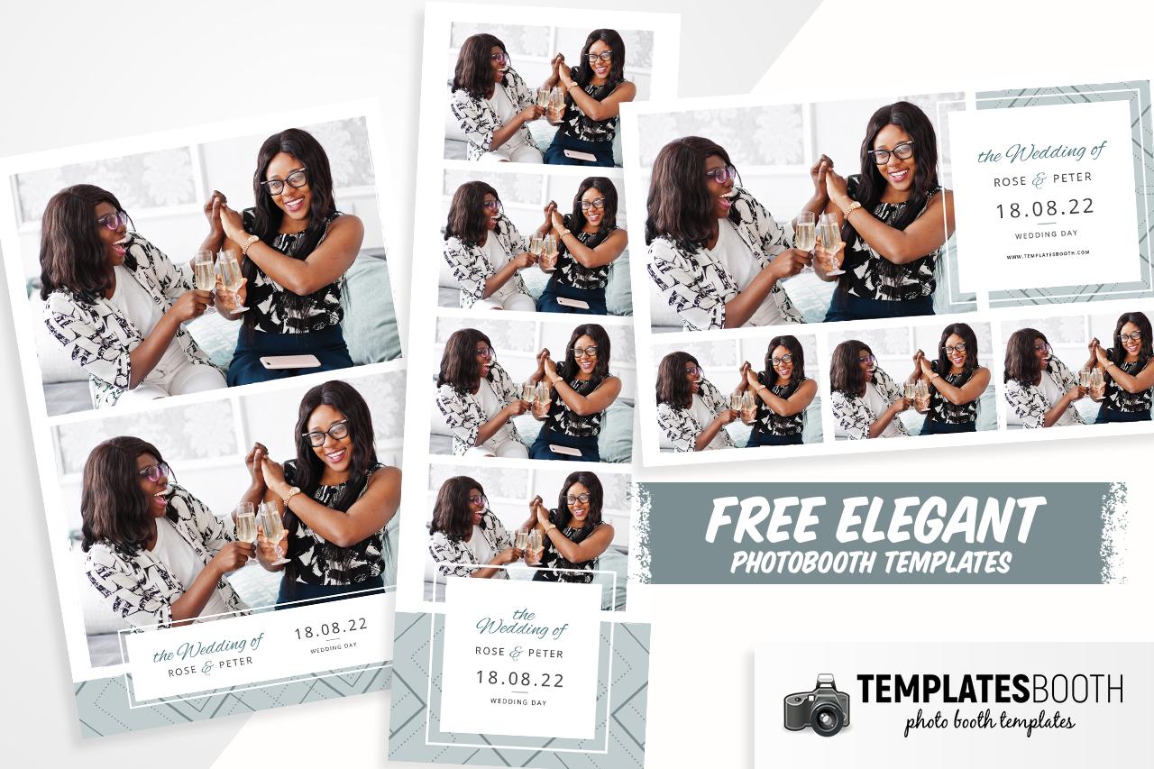 Free Elegant Wedding Photo Booth Templates