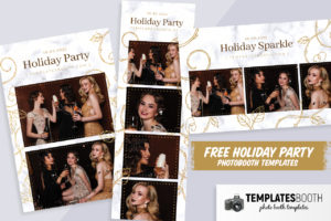 Free Holiday Party Photo Booth Template