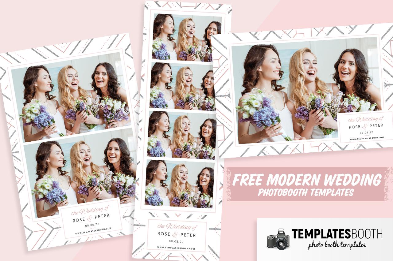Free Modern Wedding Photo Booth Templates