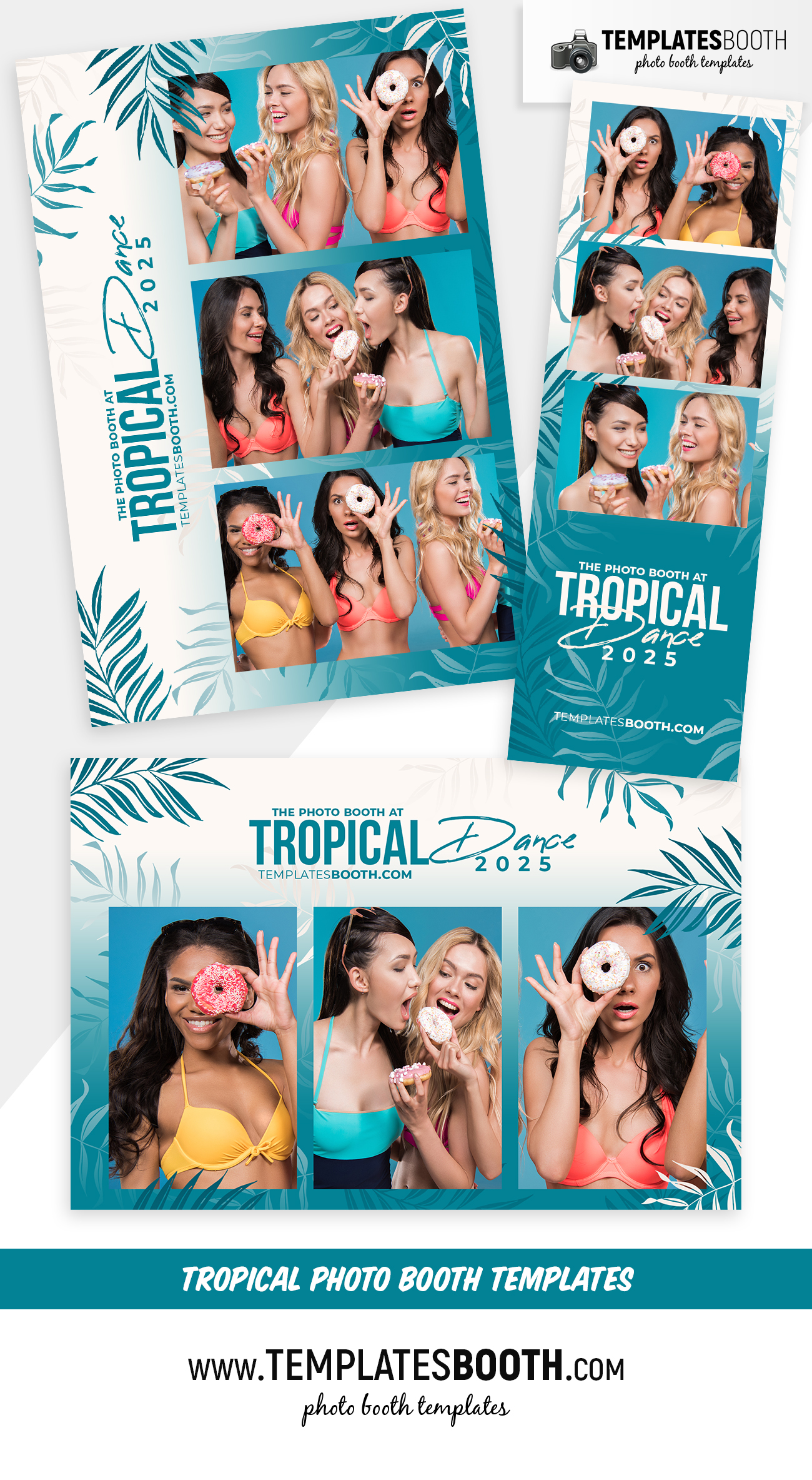 Free Tropical Photo Booth Templates