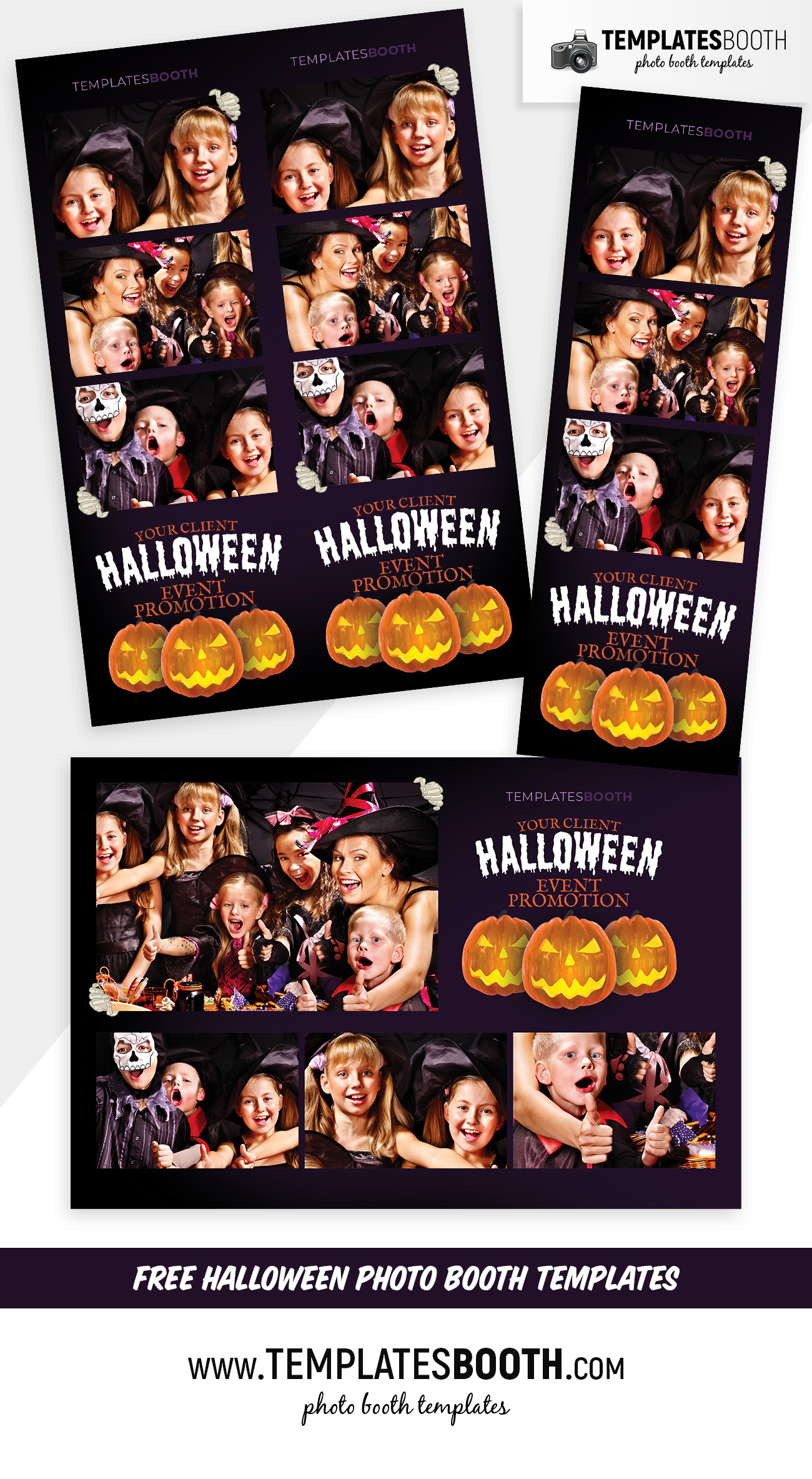 Free Halloween Photo Booth Template