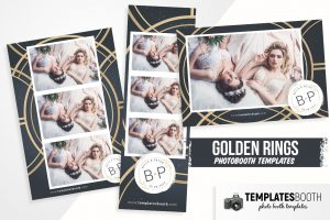 Golden Rings Photo Booth Template