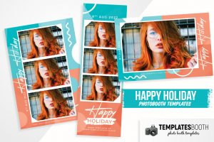 Happy Holiday Photo Booth Template