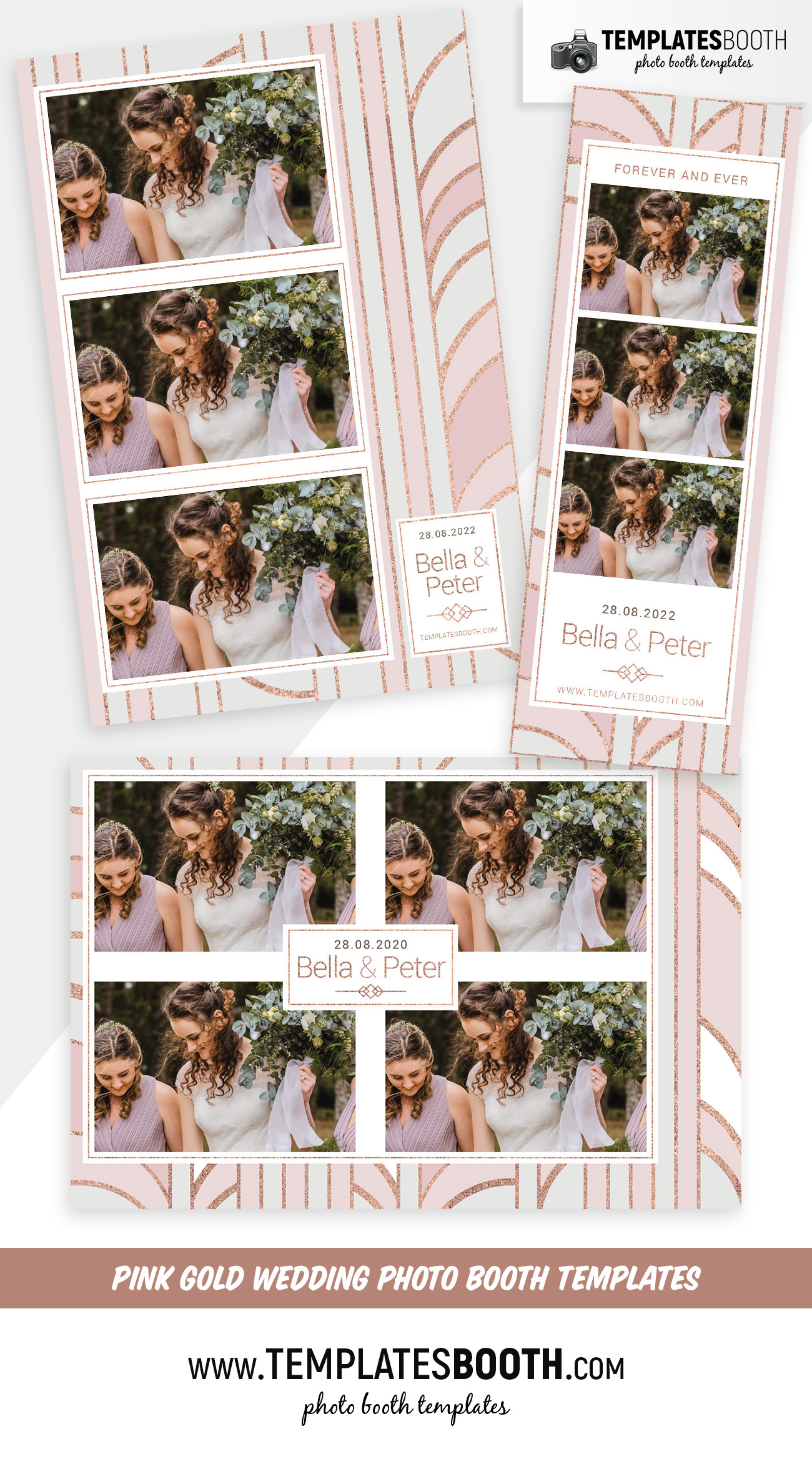Pink Gold Photo Booth Template
