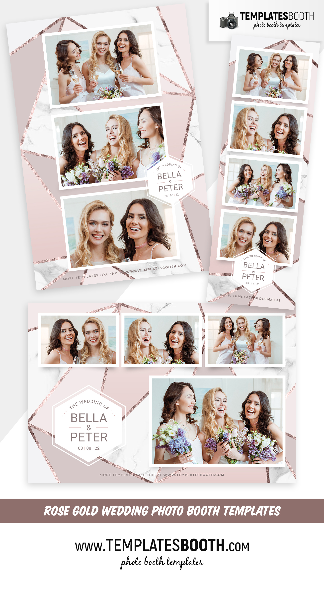 Rose Gold Photo Booth Template