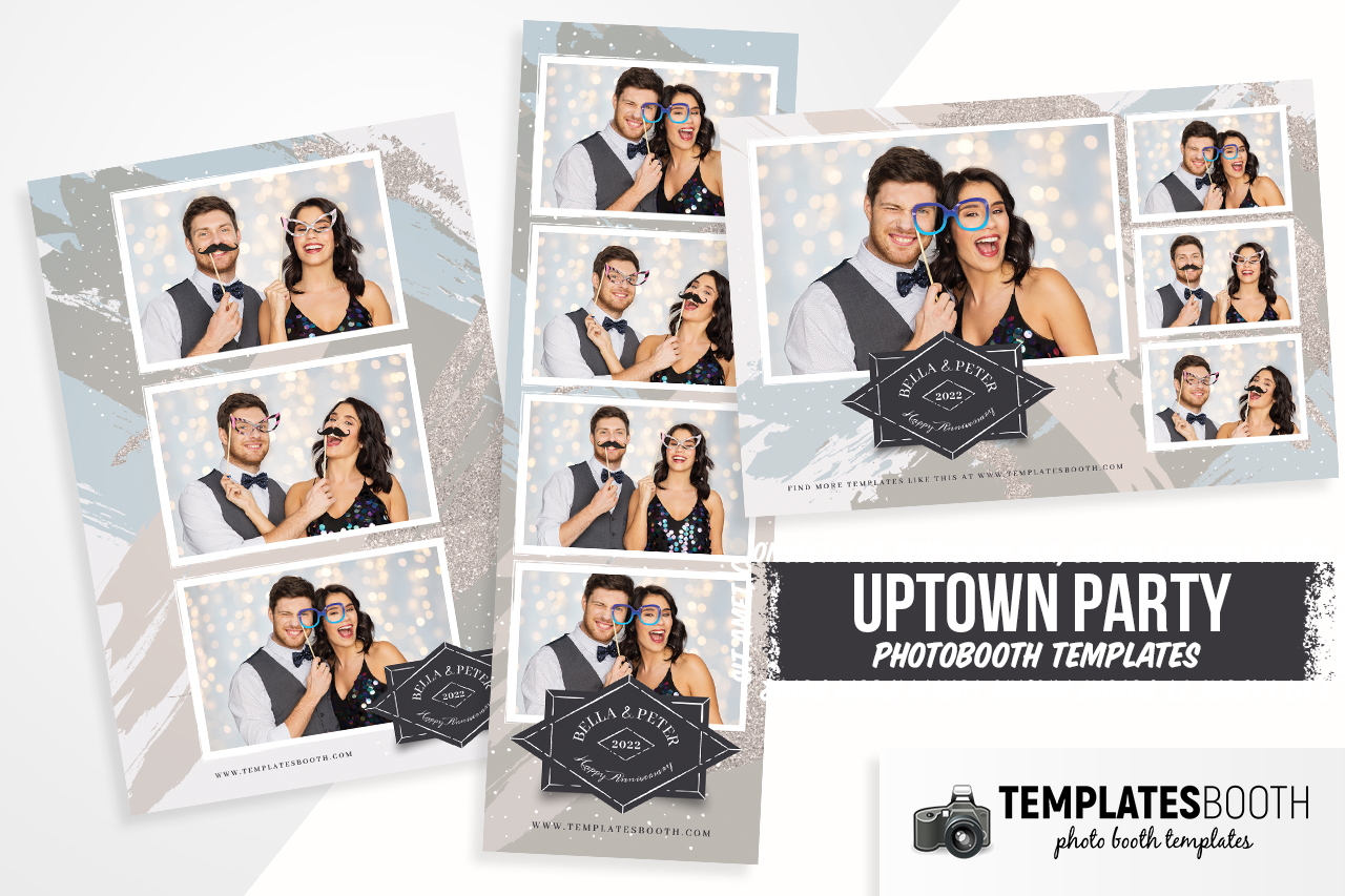Uptown Party Photo Booth Template