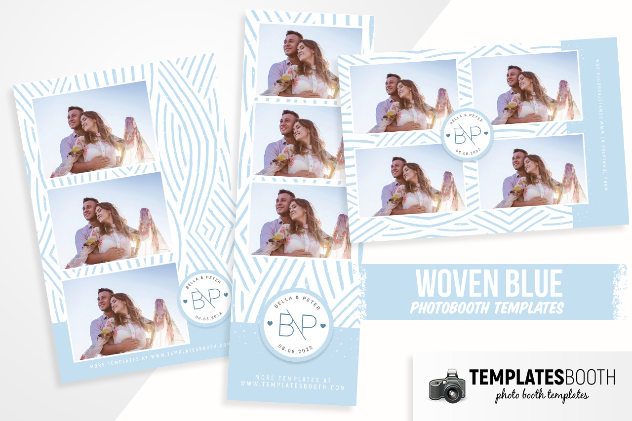 Woven Blue Photo Booth Template
