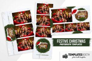 Festive Christmas Photo Booth Template