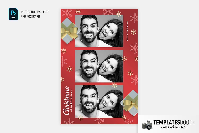 Christmas Gift Photo Booth Template (4x6 postcard)