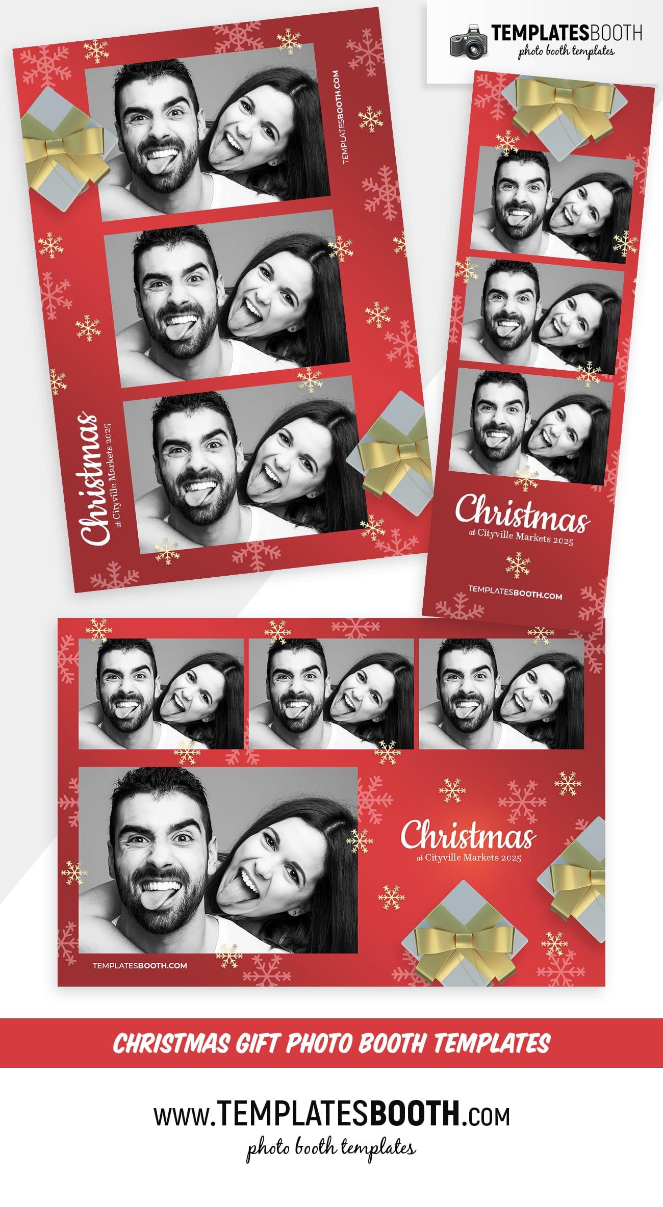 Christmas Gift Photo Booth Template