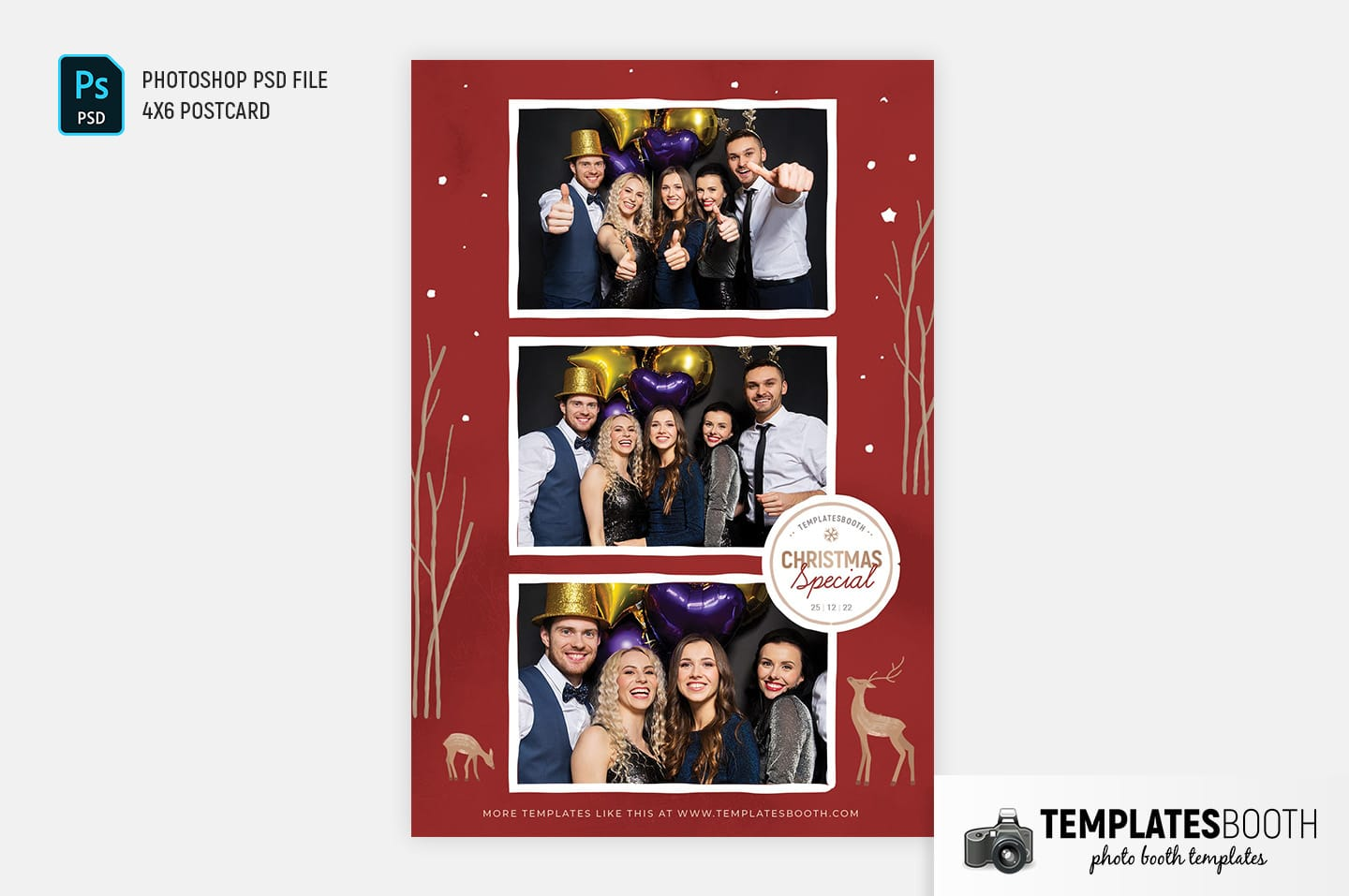 Christmas Special Photo Booth Template (4x6 postcard)