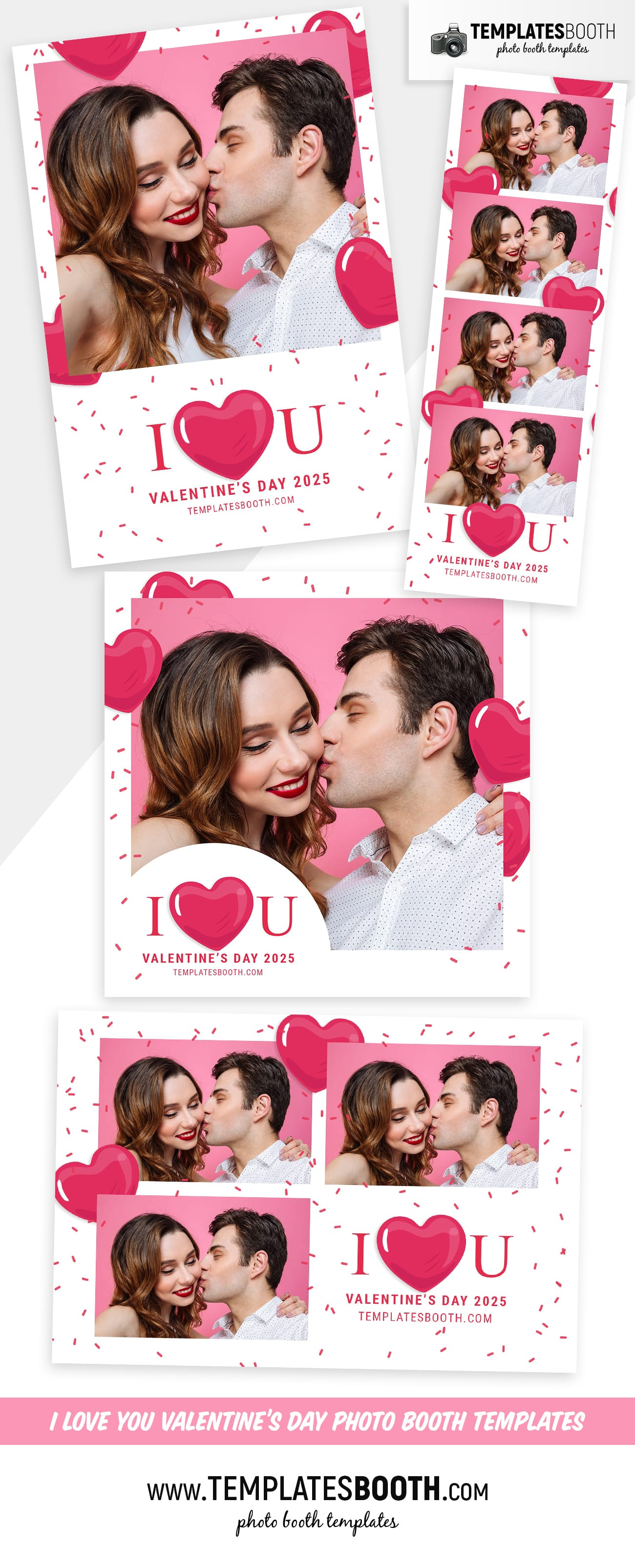 I Love You Valentine's Day Photo Booth Template (full preview)