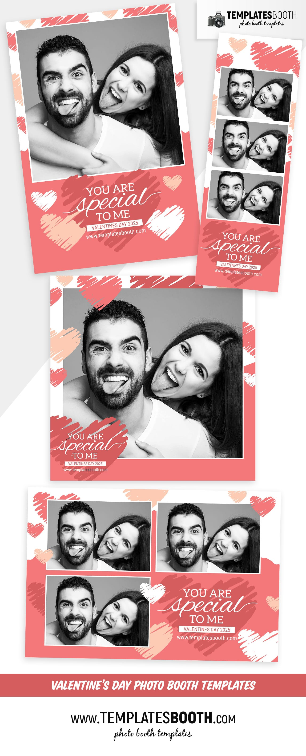 Valentine's Day Photo Booth Template (Full Preview)