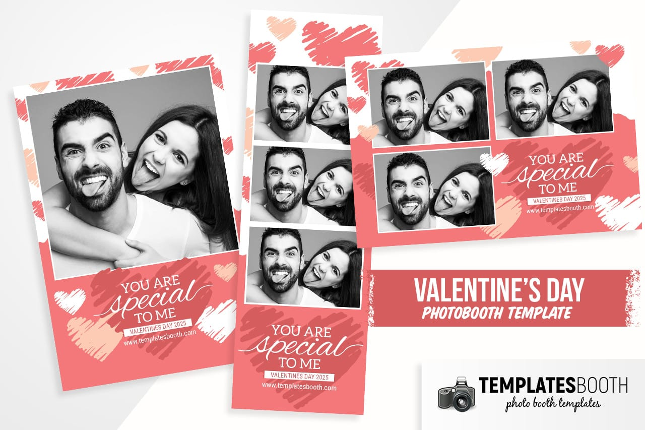 Valentine's Day Photo Booth Template
