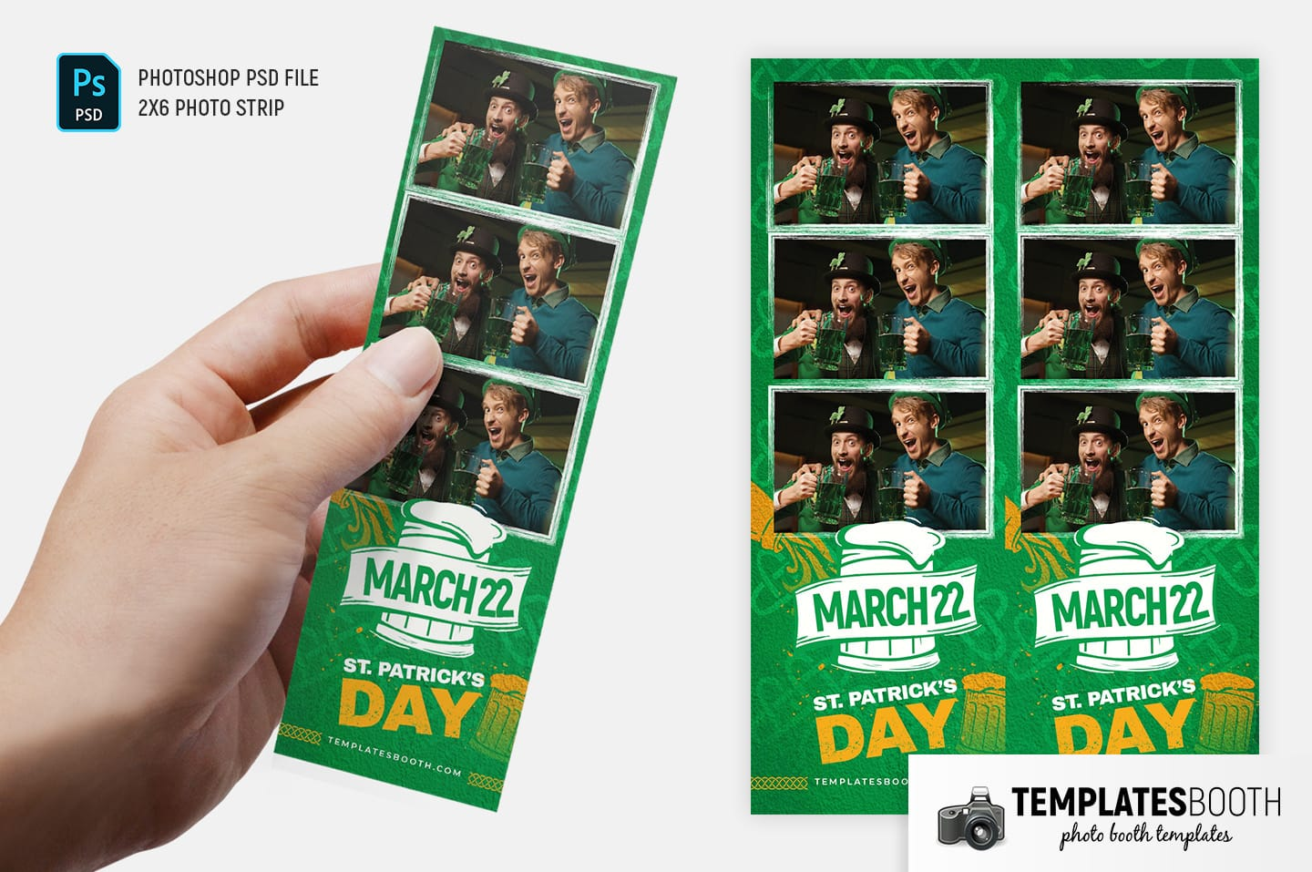 St. Patrick's Day Photo Booth Template Vol.4