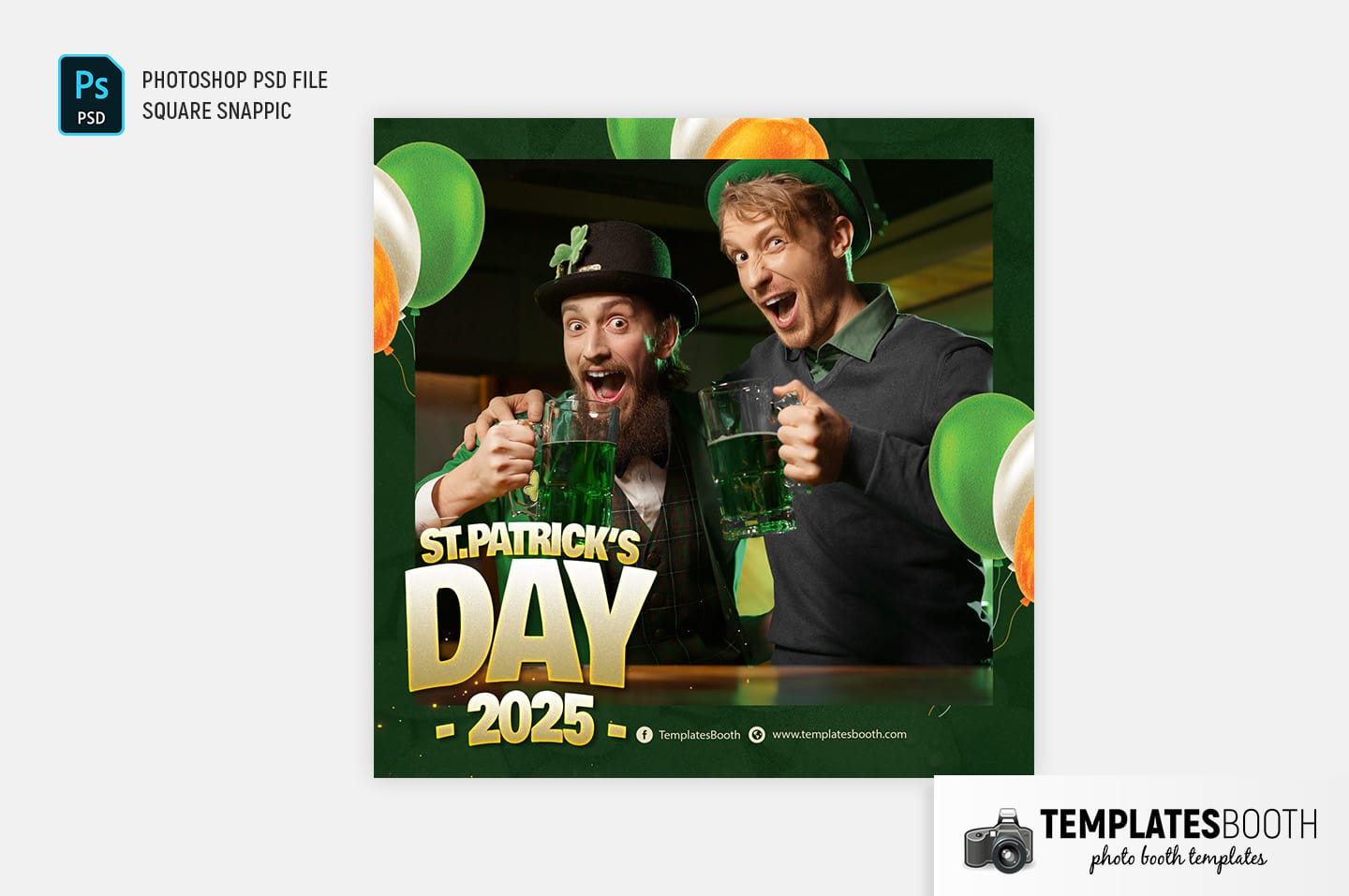 St. Patrick's Day Photo Booth Template (Snappic)