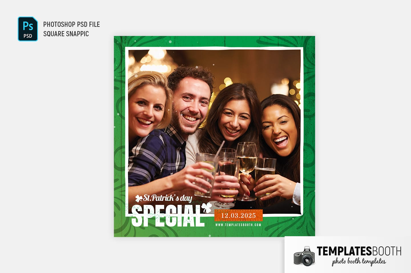St. Patrick's Day Photo Booth Template