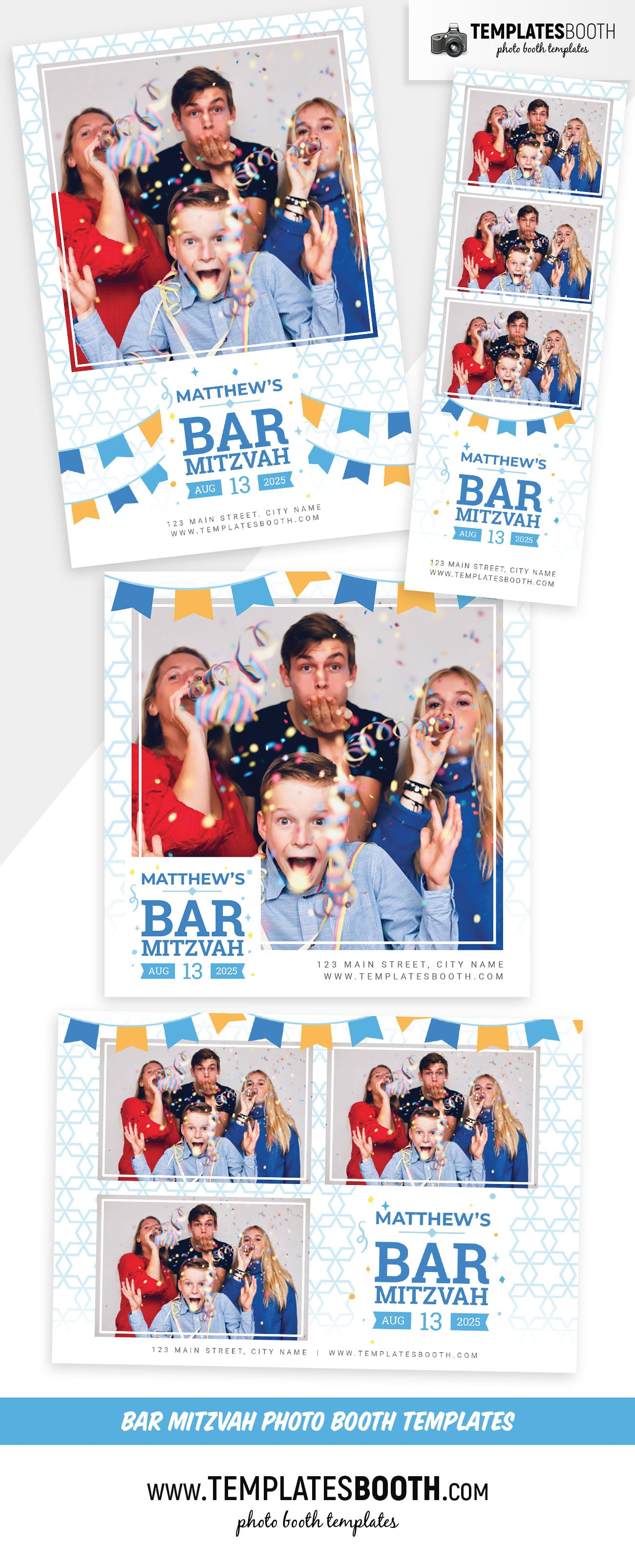 Bar Mitzvah Photo Booth Template (Full Preview)