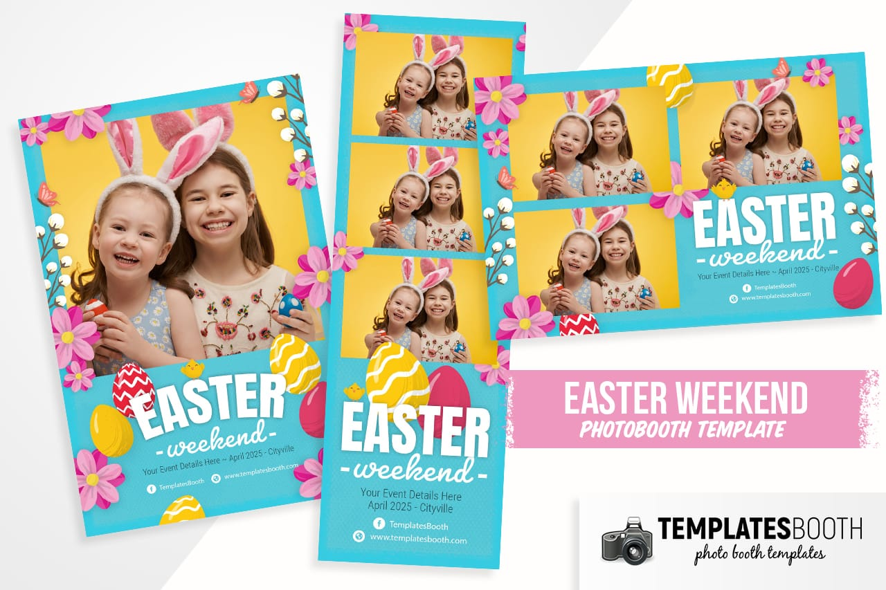 Easter Photo Booth Template