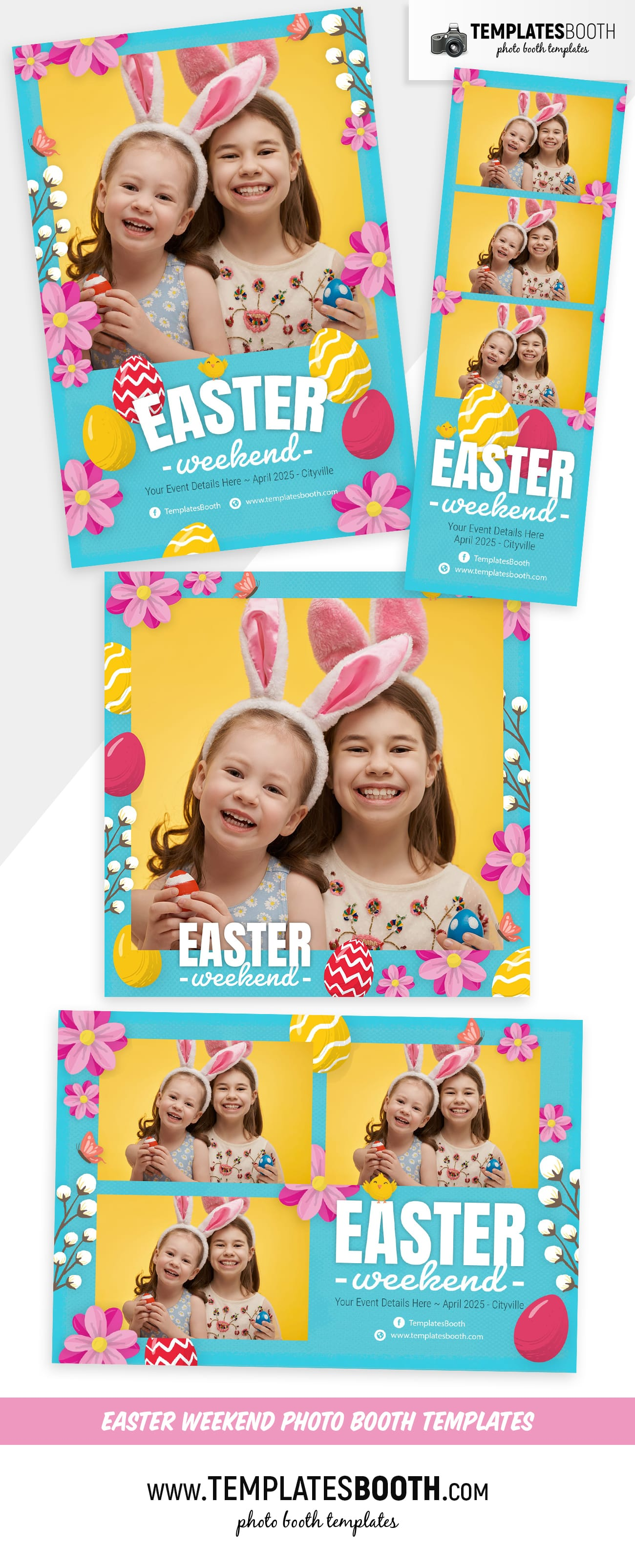 Easter Photo Booth Template (full preview)
