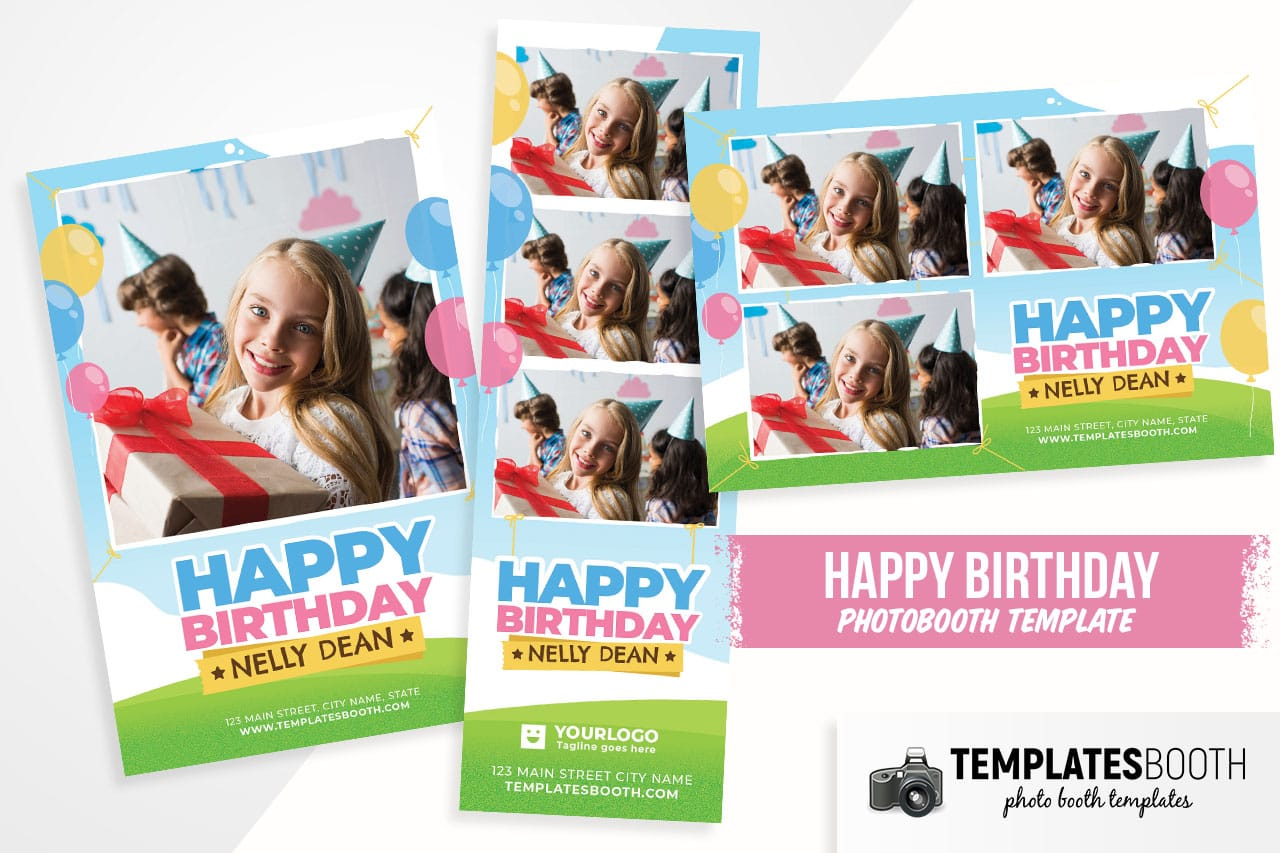 Happy Birthday Photo Booth Template