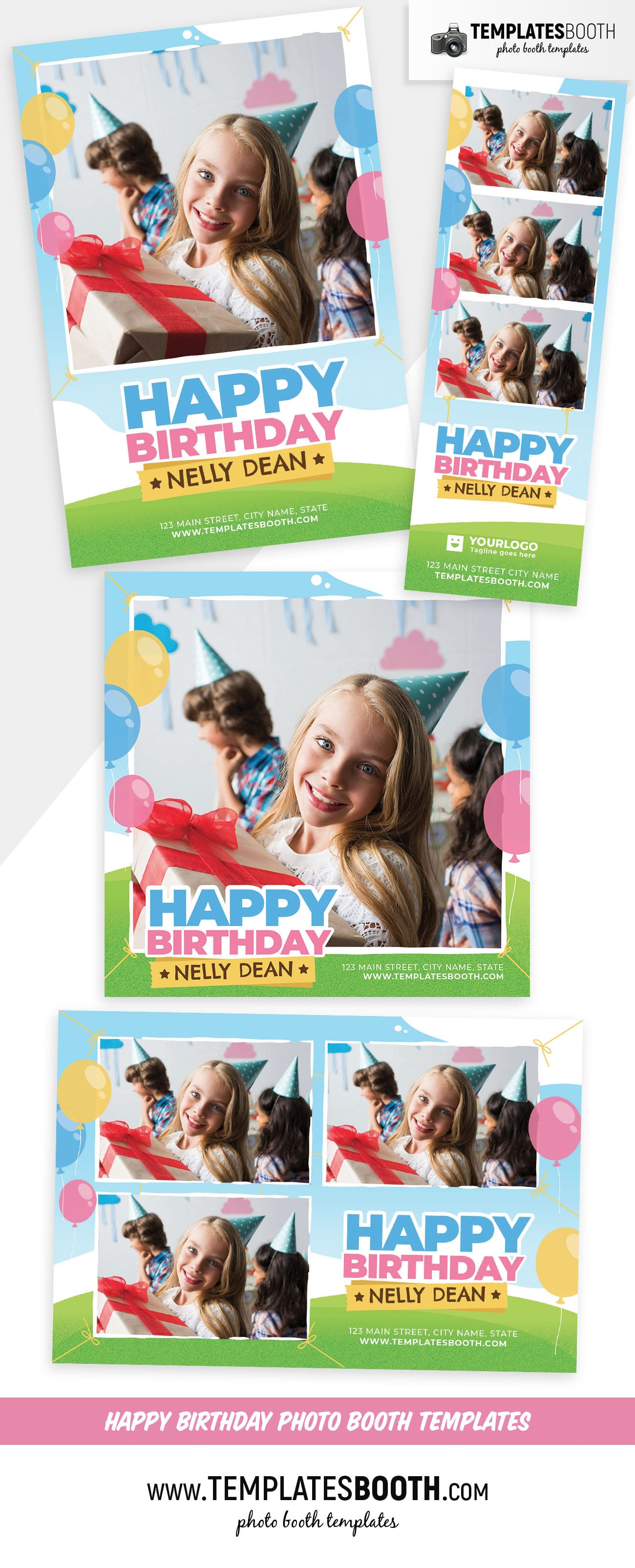 Happy Birthday Photo Booth Template (Full Preview)