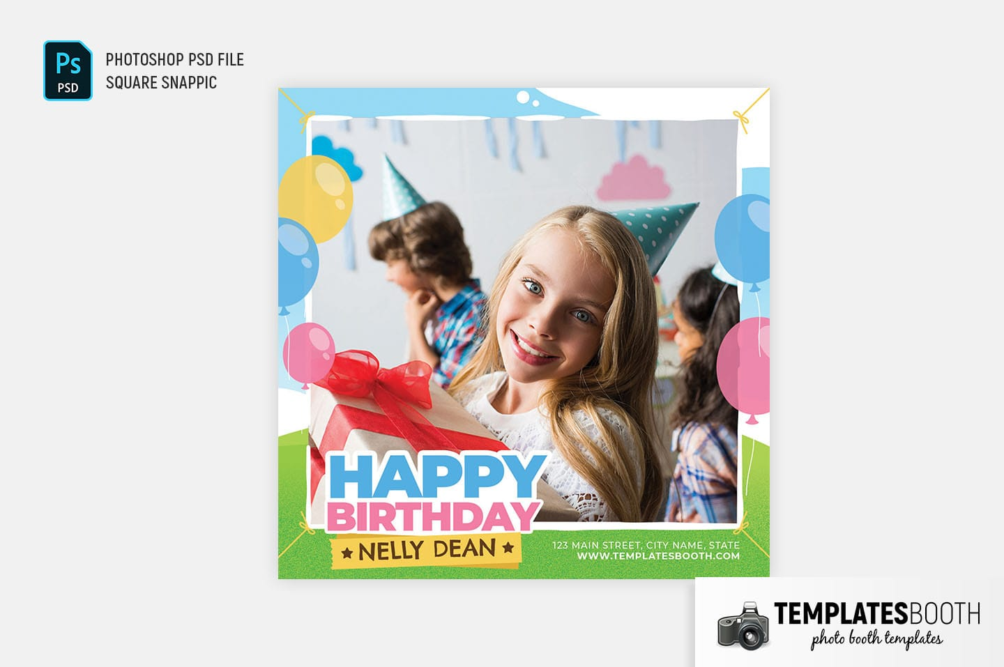 Happy Birthday Photo Booth Template (Snappic)