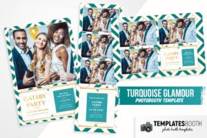 Turquoise Glamour Photo Booth Template