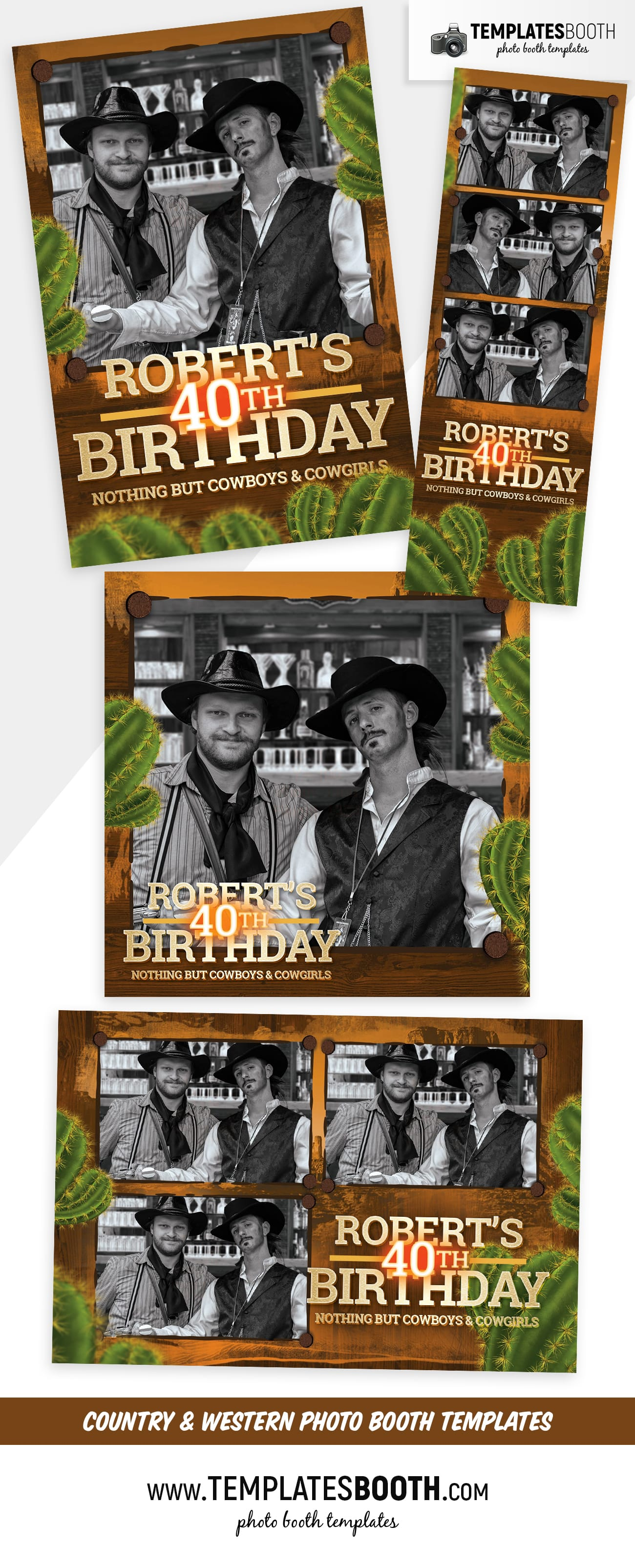 Country & Western Photo Booth Template (full preview)