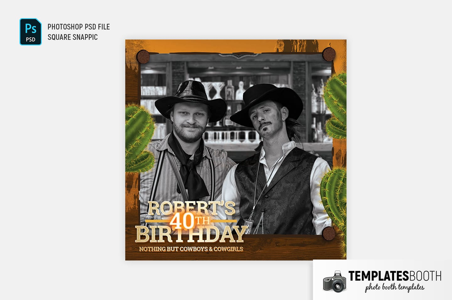 Country & Western Photo Booth Template (Snappic)