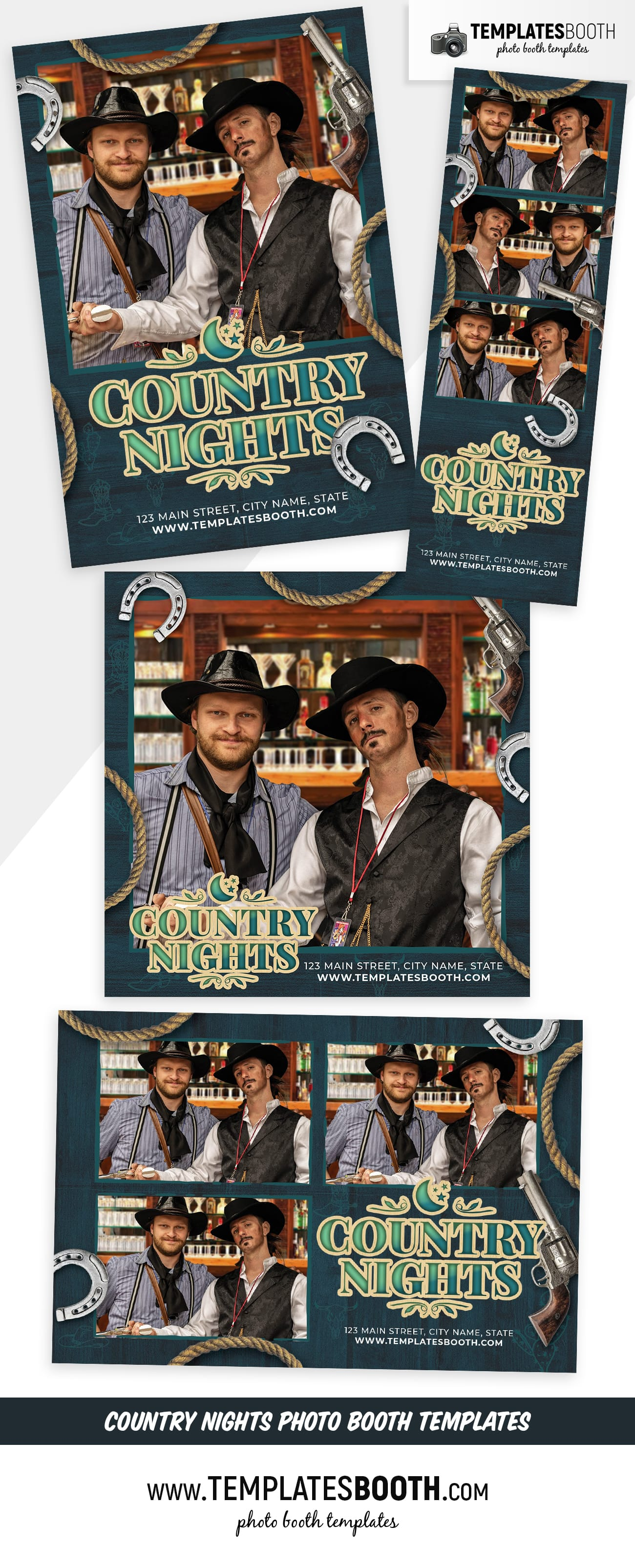 Country Nights Photo Booth Template (Full Preview