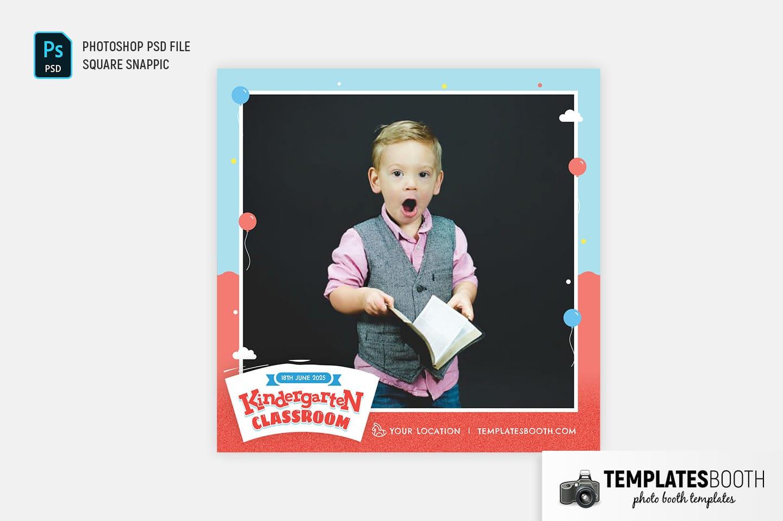 Kindergarten Photo Booth Template