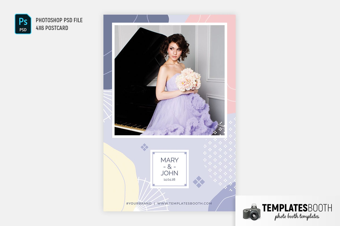 Abstract Pastel Photo Booth Template (4x6 postcard)