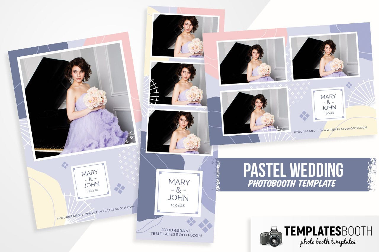 Abstract Pastel Photo Booth Template