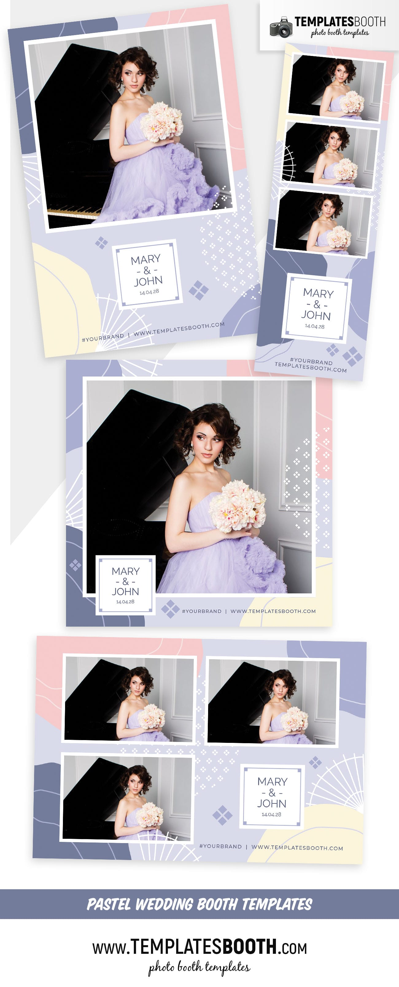 Abstract Pastel Photo Booth Template (full preview)