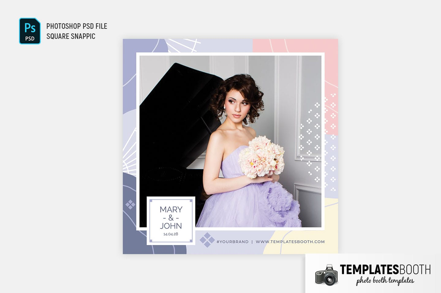 Abstract Pastel Photo Booth Template (Snappic)