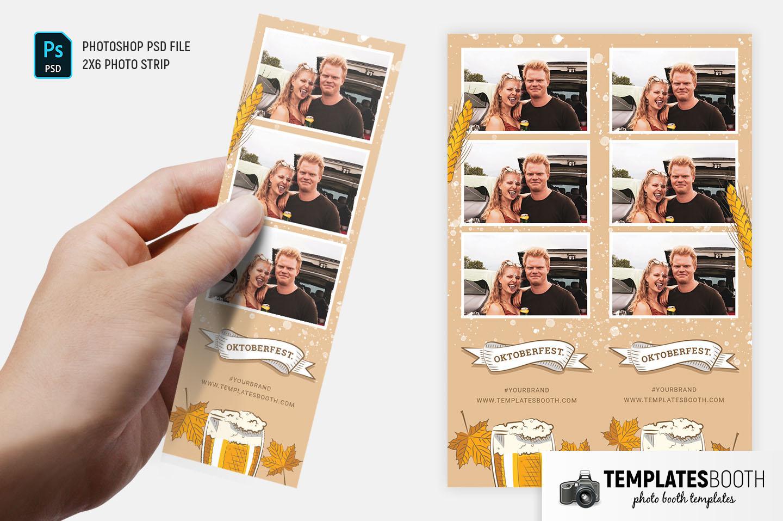 Oktoberfest Photo Booth Template (2x6 Photo Strip)