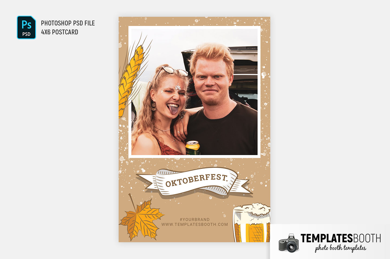 Oktoberfest Photo Booth Template (4x6 Postcard)