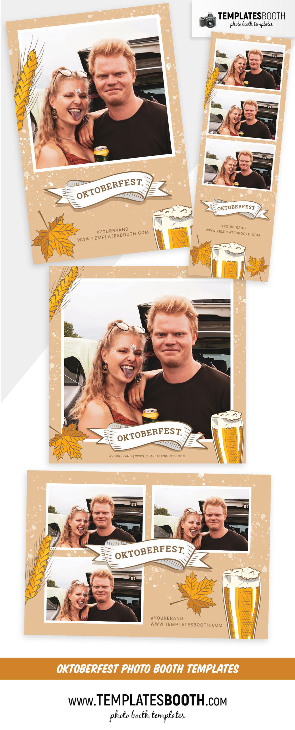 Oktoberfest Photo Booth Template (Full Preview)