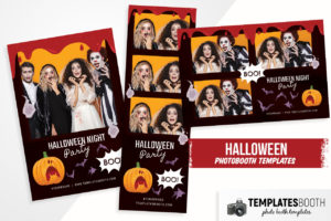 Bloody Halloween Photo Booth Template