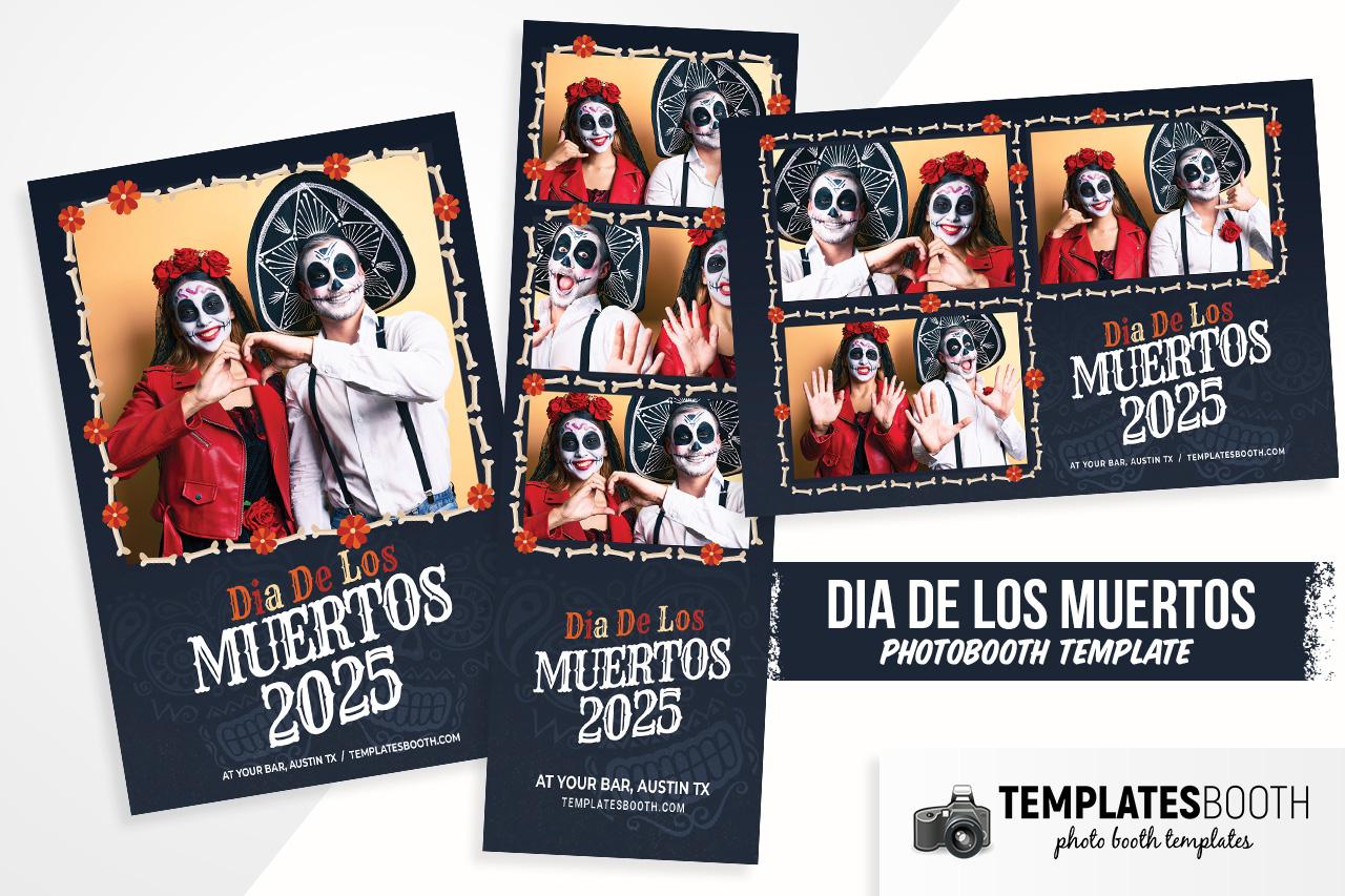 Dia De Los Muertos Photo Booth Template