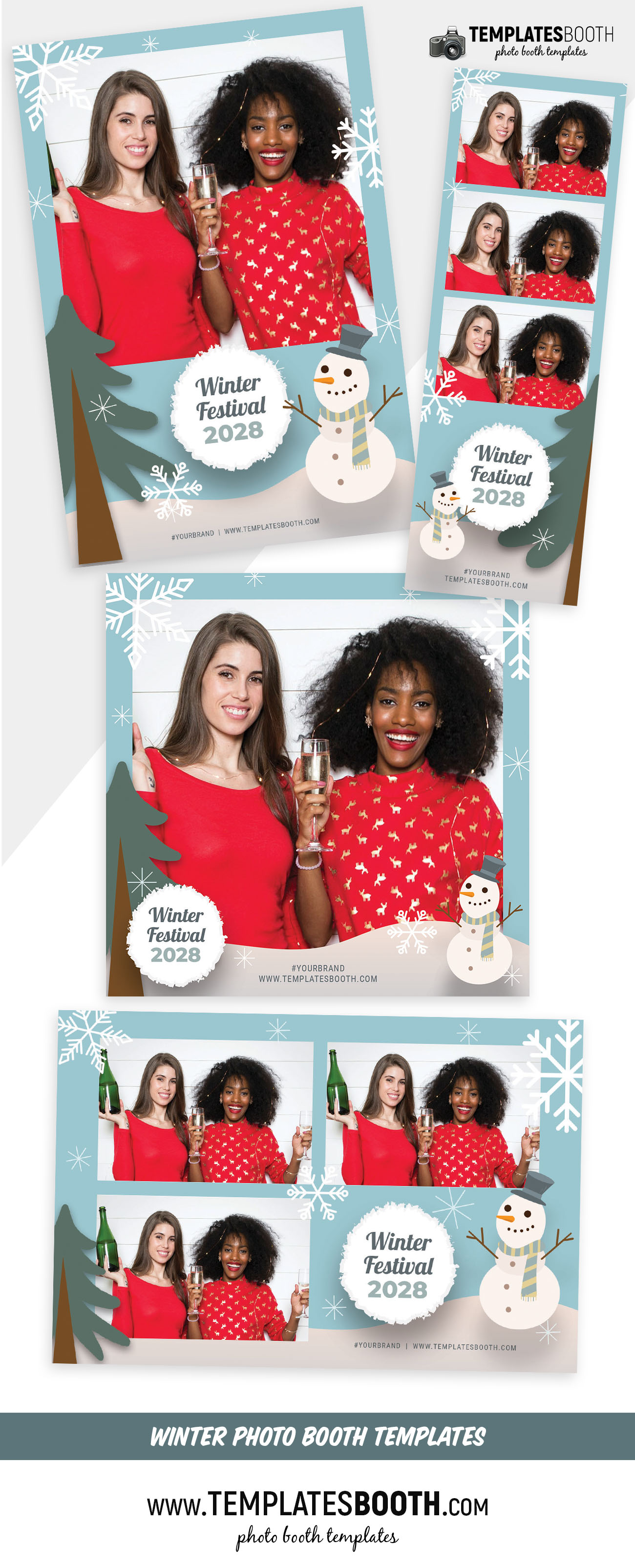 Winter Festival Photo Booth Template (Full Preview