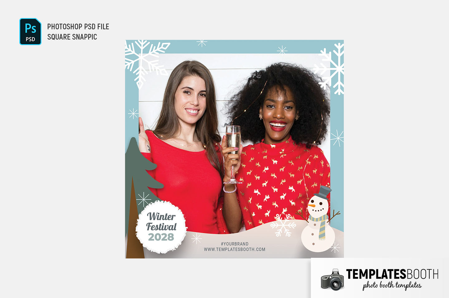 Winter Festival Photo Booth Template (Snappic)