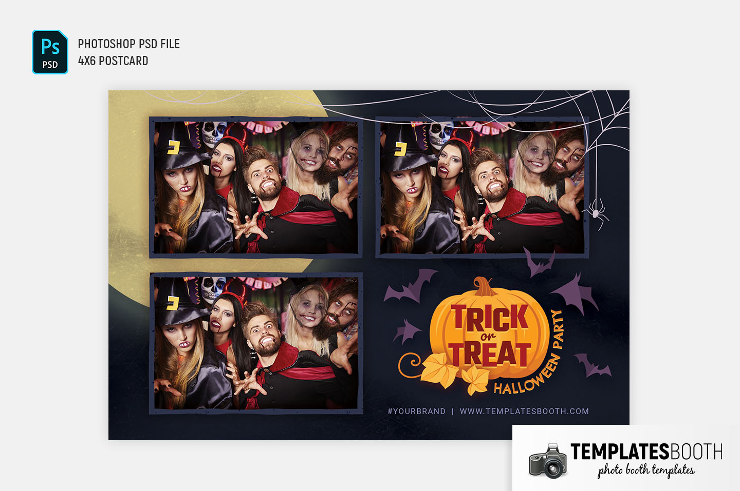"""Trick or Treat Photo Booth Template (4x6"""" Landscape)"""