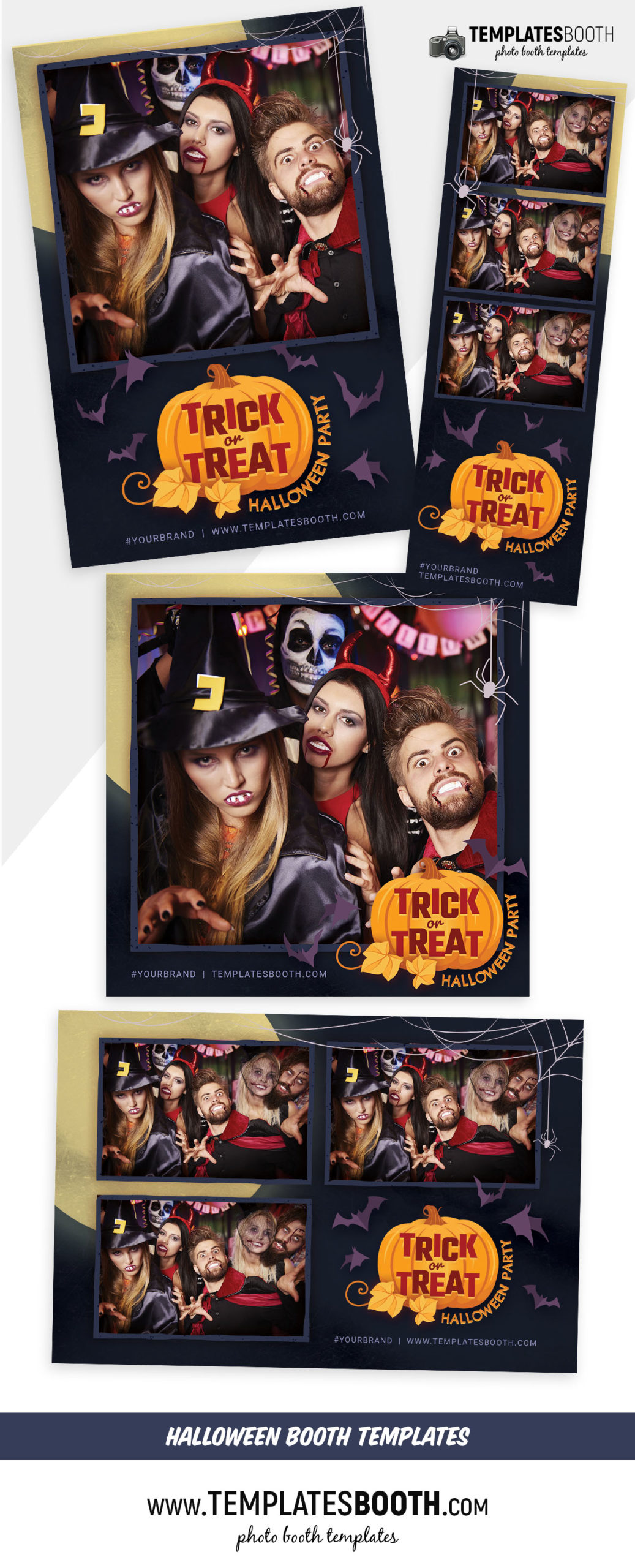 Trick or Treat Photo Booth Template (Full Preview)