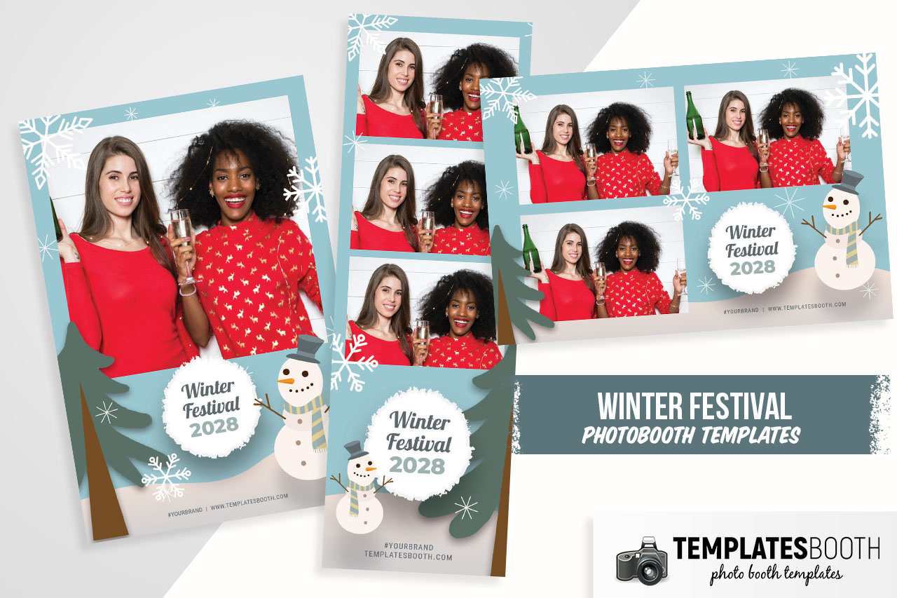 Winter Festival Photo Booth Template