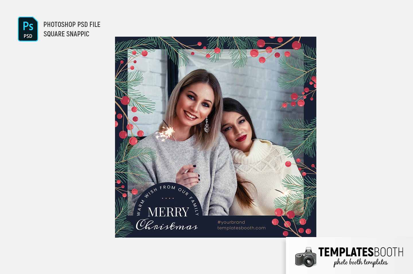 Simple Christmas Photo Booth Template