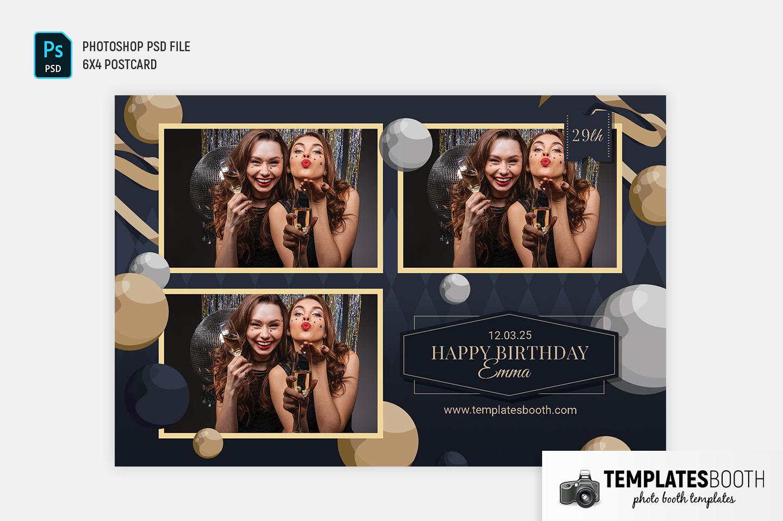 Elegant Birthday Photo Booth Template
