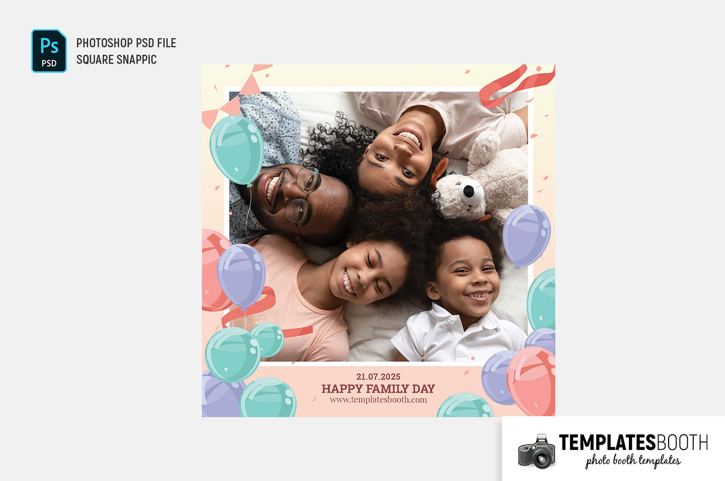 Family Fun Day Photo Booth Template